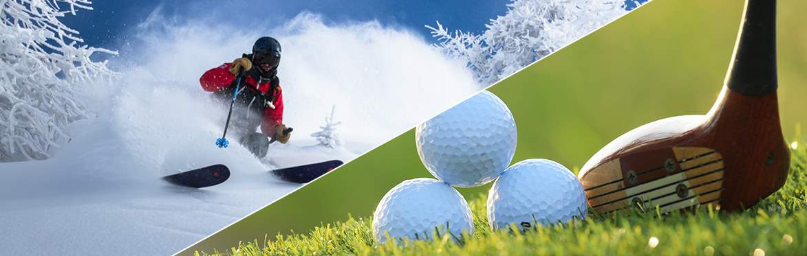 Golf and Skiing